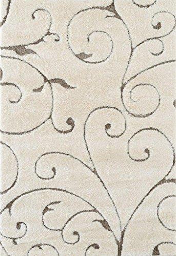 Shag Creme Shag Teppich (AMER Sirocco 6Shag Läufer Teppich 2'15,2cm X9' 1, Creme)
