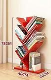 ZCJB Bücherregal Einfache Bücherregal Baum Kleine Bücherregal Kinder Staffelei Student Office Lagerregal ( Farbe : Rot )