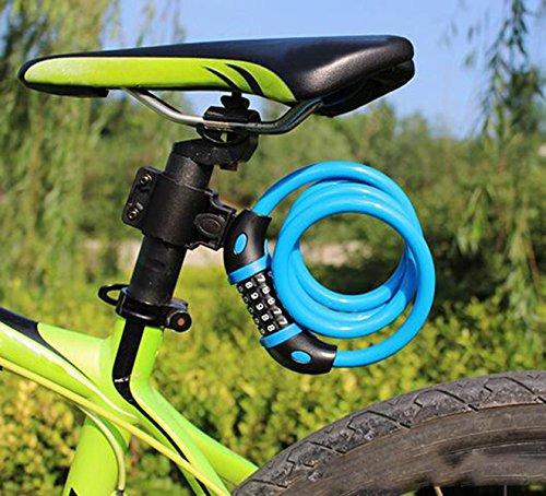 Cinq Chiffres Véhicule Mot De Passe Serrure.Serrure Câble Vélo Antivol Verrouillage Vélo électrique Code De Verrouillage Anti-vol,Blue