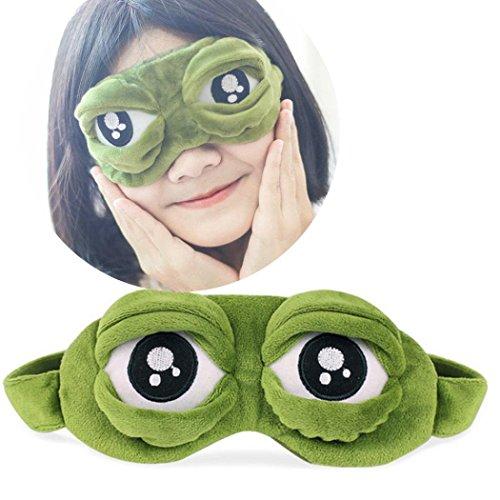 igemy Cute Eyes, la triste 3d Antifaz para dormir resto Sleep Anime divertido regalo, verde