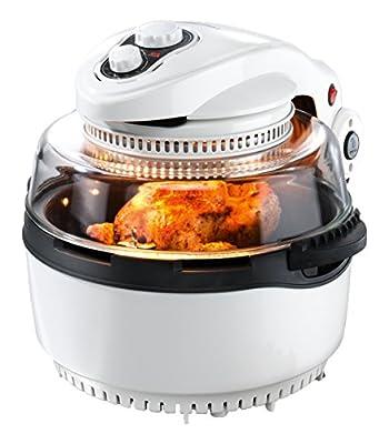 Gourmet Maxx Four halogène & Air Chaud XXL 1400W (avec piquet de barbecue et panier à friture)