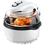 Gourmetmaxx 00974halógena de/Horno de aire caliente xxl con cesta de freír y pincho giratorio | 1400W | Oven | freidora, color blanco