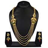 VK Jewels Multi Strings Gold Plated Neck...