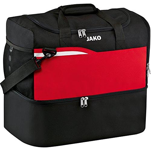JAKO Herren Competition 2.0 Sporttasche schwarz/Rot, 55x35x47 cm