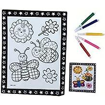 Fai da te per bambini Coloring Palette Tavolo da disegno concavo-convesso con penne [Bee]