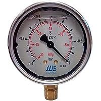 Calidad tallerheels/presión Manómetro para bombas de vacío y cámara tallerheels - acero inoxidable glicerina con tubo de Bourdon tallerheels/medidores de presión. De ingeniería aplicada tallerheels