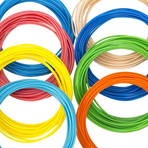 3D Stift Filament PLA, 20 Farben, je 10M – 3D Pen PLA Filament 1,75mm, 3D Stift Farben Set für 3D Druck Stift (20 Colors, 328 Ft insgesamt) - 5