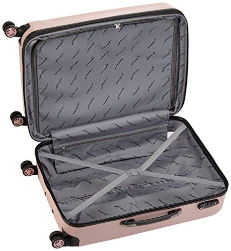 Packenger Koffer - Velvet (XL), Mauve, 4 Doppelrollen, 112 Liter, 72cm, Koffer mit TSA-Schloss, Erweiterbarer Hartschalenkoffer (ABS) robuster Trolley Reisekoffer - 6
