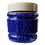 #6: eshoppee blue color 8/0 glass beads, seed beads pot 200 gm (approx 6000 beads) for jewellery, art and craft making diy project kit (blue)