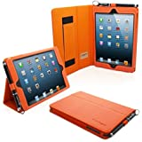 TheSnugg B00A23FYEW - tablet cases (Folio, Orange, PU leather, Apple, iPad mini, Dust resistant, Scratch resistant)