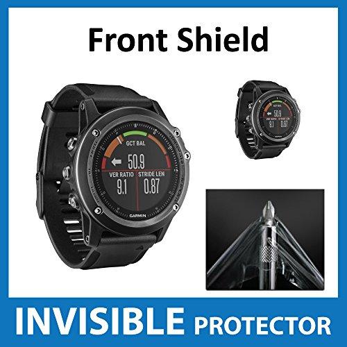 UNSICHTBARE Displayschutzfolie für Ihr Garmin Fenix 3 HR GPS (Front) welche aus einem kratzfesten Material hergestellt wird