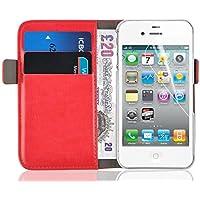 Schutzhülle iPhone 44S Schutzhülle iPhone 44S | JAMMYLIZARD | Schutzhülle Schutzhülle DELUXE Range Karten Magnetverschluss, rot