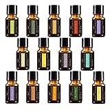 Aromatherapie-Set mit Hochwertigem Ätherischen Öl 14-10ml 100% Pure Therapeutische Gütequalität Weihrauch, Lavendel, Pfefferminz, Rosmarin, Süßorange, Teebaum, Eukalyptus, Grapefruit, Zitrone und Mehr