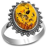 Ian and Valeri Co..  -  Sterling-Silber 925 Sterling-Silber Spezialschliff Yellow Bernstein