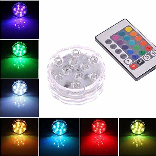 Hunpta Tauchpumpe 10 LED wasserdicht Licht RGB für Vase Hochzeit Party Fisch Dekore (Mutilcolor)