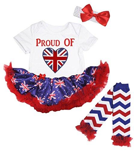 Petitebelle Baby Mädchen (0-24 Monate) Body blau weiß Gr. S, weiß