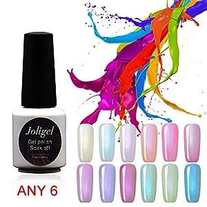 Choisissez n'importe quel vernis à ongles en gel 6 couleurs de bonbons Couleur Effet Lollipop Perle Nacre Finition 7.3ml UV permanent LED Manucure Nail Art Nail Art Spa Salon
