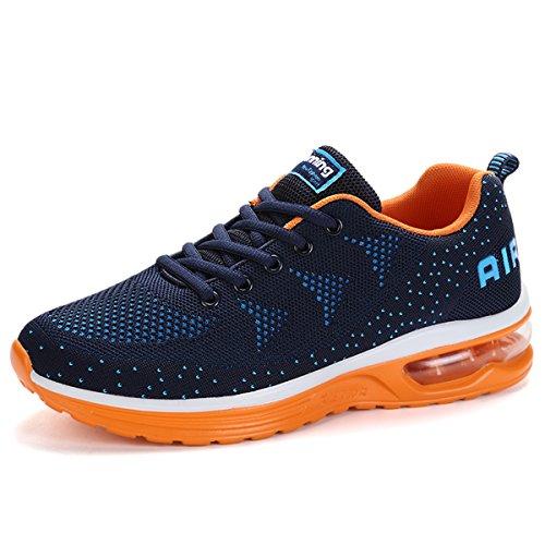 SITAILE Unisex Uomo Donna Scarpe da Ginnastica Scarpe da Corsa Sportive Fitness Running Sneakers Basse Scarpe da Basket Ragazzo Ragazza Casual Gym Shoes Blu-arancia