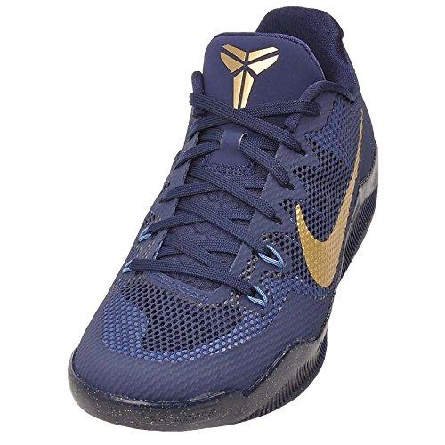 Nike Kobe Xi, Chaussures de Sport-Basketball Homme, 44 EU Midnight Navy/Metallic Gold