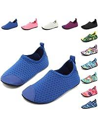 ByBetty Kids Toddler Sneakers Zapatos Antideslizantes Ligeros de Agua para Nadar Calcetines Descalzos Aqua Calcetines para Niños y Niñas Baba