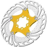 Alomejor Disco De Freno De Disco 6 Pernos Flotante Disco De Freno De Disco De Acero Inoxidable para La Mayoría De La Bicicleta De Carretera Bicicleta De Montaña BMX MTB Piezas De Bicicleta(Oro)