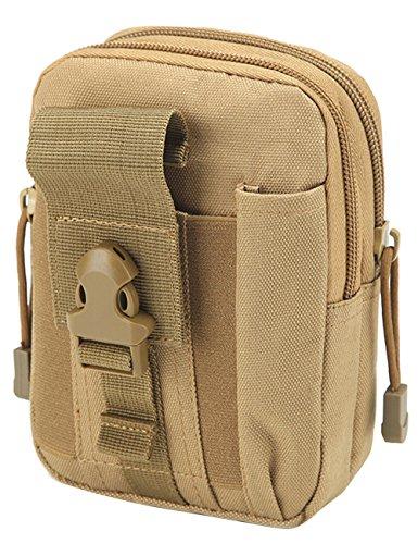 Menschwear Outdoor multiuso tattico Pouch Utility Gadget cintura marsupio Camuffare 3 Cachi