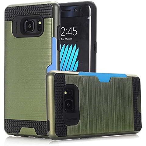"""Samsung Galaxy A5 Cover, AOFad A500H Case heavy duty protezione La trafilatura Pinza di carte Olive Plastica Avec 11 Colors 2-in-1 Accessori Serie Per Donna Uomo 5"""" F250"""