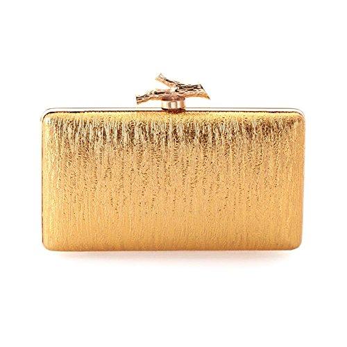 WZW Sacchetto di spalla della borsa della frizione della busta . black gold