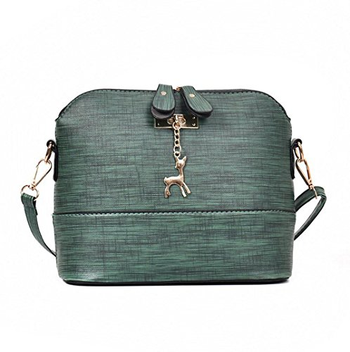 Tasche Bags AMUSTER Damen Tasche Mode PU Leder Mini Umhängetasche Beiläufige Beutel Telefon Tasche Vintage kleine Shell Leder Handtasche Grün
