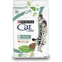 Purina Cat Chow - Comida Seca para Gatos Adultos Esterilizados, Rica en Pollo - 3 Kg