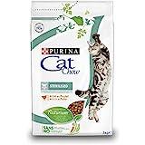 Purina Cat Chow Comida Seco para Gatos Adultos EsterilizadosRico en Pollo - 3 Kg