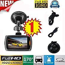1x Auto 1080 P 2.2 Full HD DVR Fahrzeug Kamera Dash Cam Video G-sensor Nachtsichtgerät Fahrschreiber 2,2 Zoll Raster Auto-Kamera Auto-Ladegerät Getränkehalter HKFV