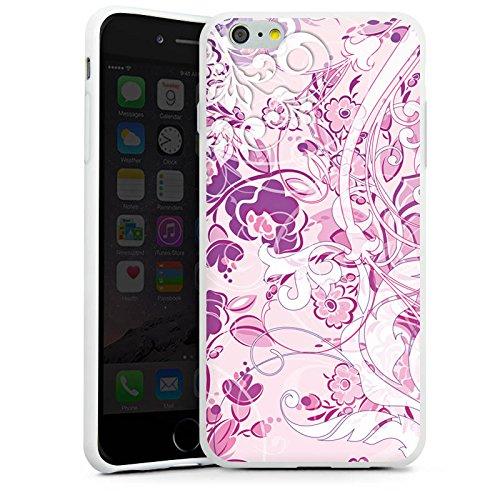 Apple iPhone X Silikon Hülle Case Schutzhülle Muster Blumen Floral Silikon Case weiß
