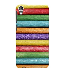 EPICCASE Colorful rolls Mobile Back Case Cover For HTC Desire 820 (Designer Case)