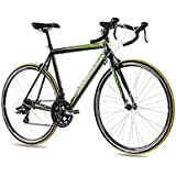 "CHRISSON 28"" Zoll ALU RENNRAD Fahrrad FURIANER mit 14G Shimano A070 schwarz grün matt"
