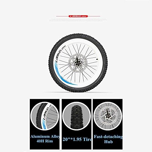 "518Fgn1I9SL. SS500  - LANKELEISI G660 48V10Ah High Power Hidden Battery 500W 20"" Pedal Assist Folding Electric Mountain Bike, Aluminum Alloy Frame, Suspension Fork,Pedelec."