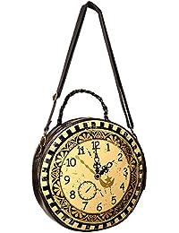 fa6e04f5b19b Banned Sac à main rond en forme d horloge victorienne steampunk
