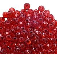 K2 Accessories A1619 Lot de 100perles en verre craquelé - rouge foncé - 6mm