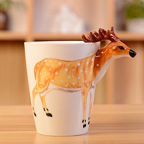 3d Pure (pintado a mano, diseño de Stitch de cerámica taza de café