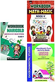 APC English, Maths And Environmental Studies NCERT Workbook For Class 5 (2020-2021)(Set of 3 Books)