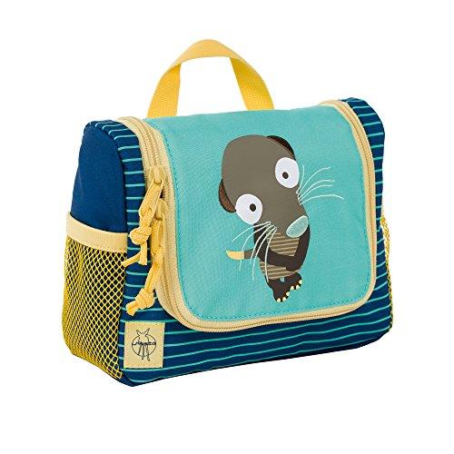 Lässig Waschbeutel Mini Washbag, Wildlife Erdmännchen Kosmetikkoffer, 20 cm, Blau