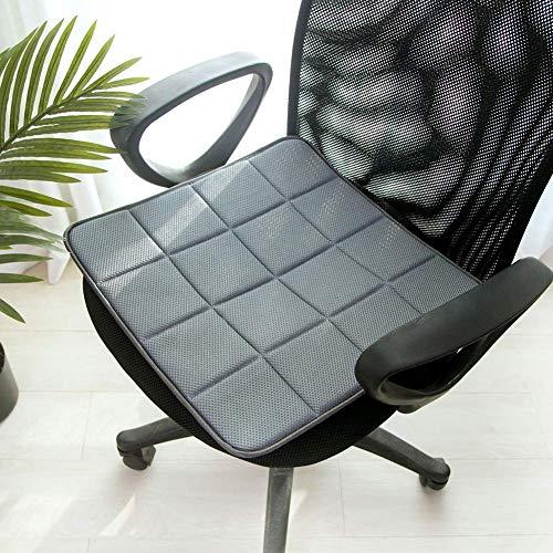 Sitzkissen Eckig Matte, Weich Rutschfester Home Leicht Kühlung Umweltfreundlich Sofa Stuhl Pad Auto Zubehör Bambus-Holzkohle Büro Atmungsaktive - grau, 40x40cm