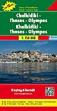Chalkidiki - Thassos - Olympos, Autokarte 1:150 000, freytag & berndt Auto + Freizeitkarten - Freytag-Berndt und Artaria KG