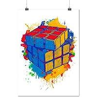 Rubik di Magia Cubo Colore Torcere Opaco/Lucida Poster A1 (84cm x 60cm)   Wellcoda