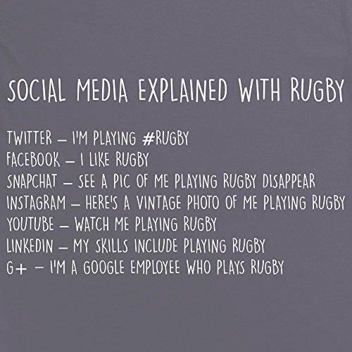 Social Media Explained - Rugby T-Shirt, Herren Anthrazit