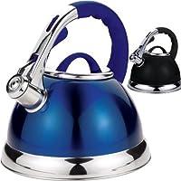 3.5LTR S/S WHISTLING KETTLE METALIC BLACK (BLUE)