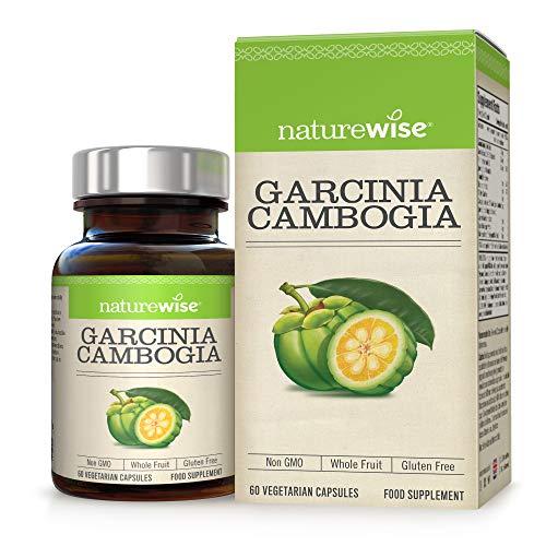 Garcinia Cambogia von NatureWise - Hohe Stärke & Reinheit für optimale Ergebnisse - Premium Vitaminmischung plus Nährstoffe helfen, Fettverbrennung zu fördern - 2 Monate Versorgung / 60 Stück