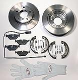 Autoparts-Online Set 60002993 Bremsen Bremscheiben + Handbremse + Warnkontakt Hinten