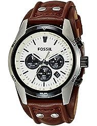Fossil Coachman Herren Armbanduhr Sport Chronograph Leder braun CH2890