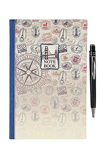 Cutlee Hardcover ruled Notebook A5 200 pages with Pen